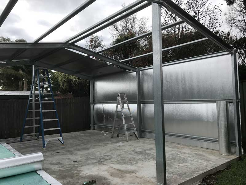 Bluescope steel frame