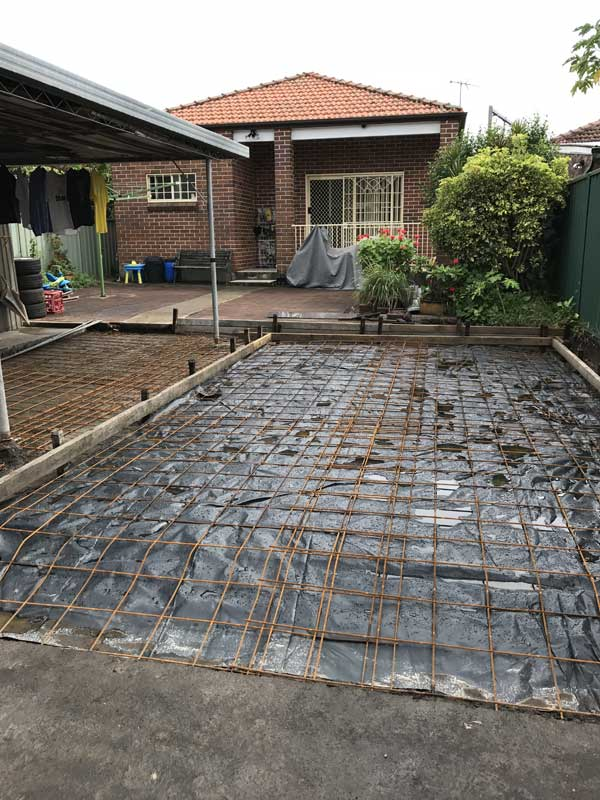 Reinforced steel ready for concrete